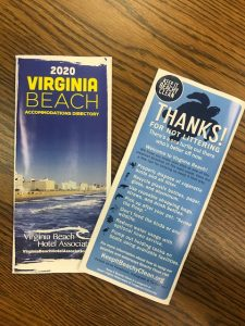 Virginia Beach Hotel Association 2020 Accommodations Guide, Front and Back Cover